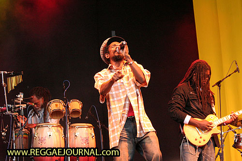 Cocoa Tea with band 2008-08-09 Reggae Sundance, E3 strand, Eersel, Holland
