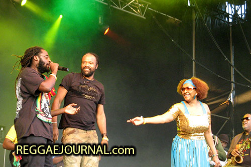 Tarrus Riley, Tony Rebel and Marcia Griffith 2007-08-11 Reggae Sundance, E3 strand, Eersel, Holland