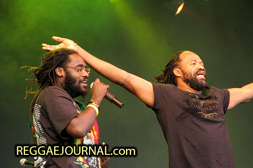 Tarrus Riley and Tony Rebel 2007-08-11 Reggae Sundance, E3 strand, Eersel, Holland