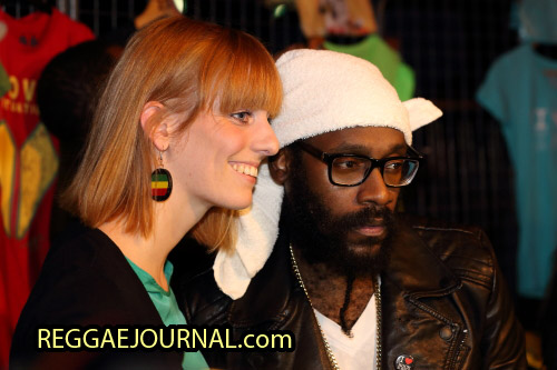 Tarrus Riley Cd signing session 2014-10-15 Oosterpoort, Groningen, Holland